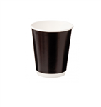 Castaway Cup 12oz Paper Double Wall Black 25Sleeve