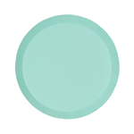 Five Star Paper Round Snack Plate 7 Mint Green 10 Pack